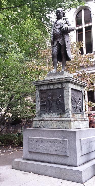 Standbeeld Benjamin Franklin