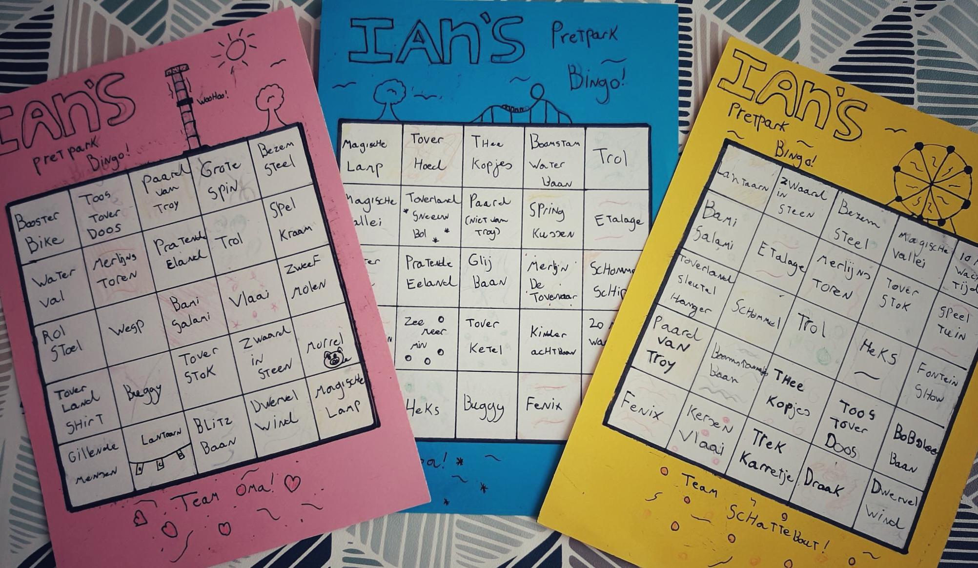 Leef je uit op de bingokaarten