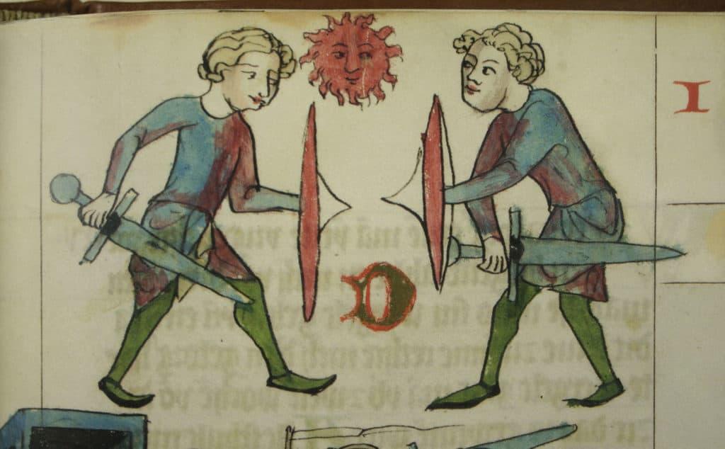Duel. Bron: Herzog August Bibliothek