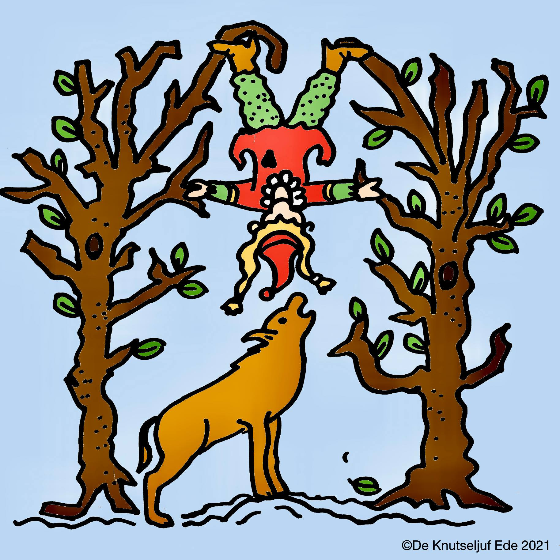 De knutseljuf Ede snelde naar het bos om deze angstaanjagende situatie op de plaat vast te leggen voor het nageslacht.