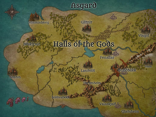 Map of Asgard