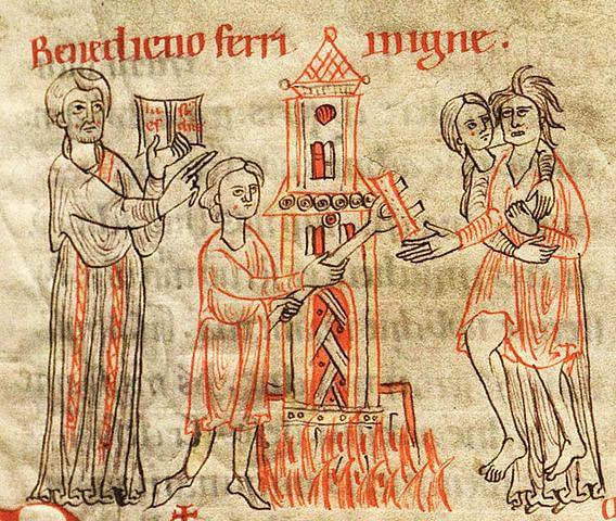 Heetijzerproef. Bron: medievalists.net