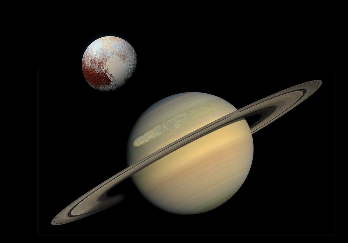 Saturnus en Pluto