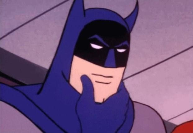 Thinking Batman van Giphy