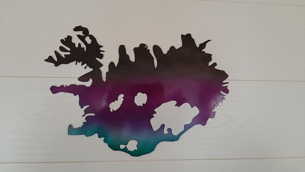 IJsland op de kaart (eigen foto)