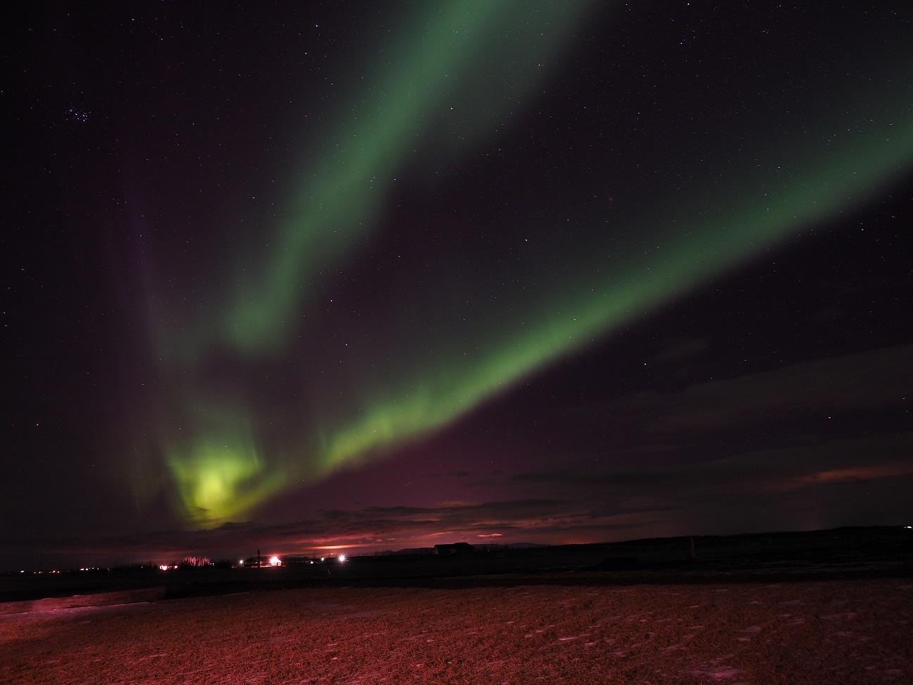 Een impressie van het noorderlicht (eigen foto)