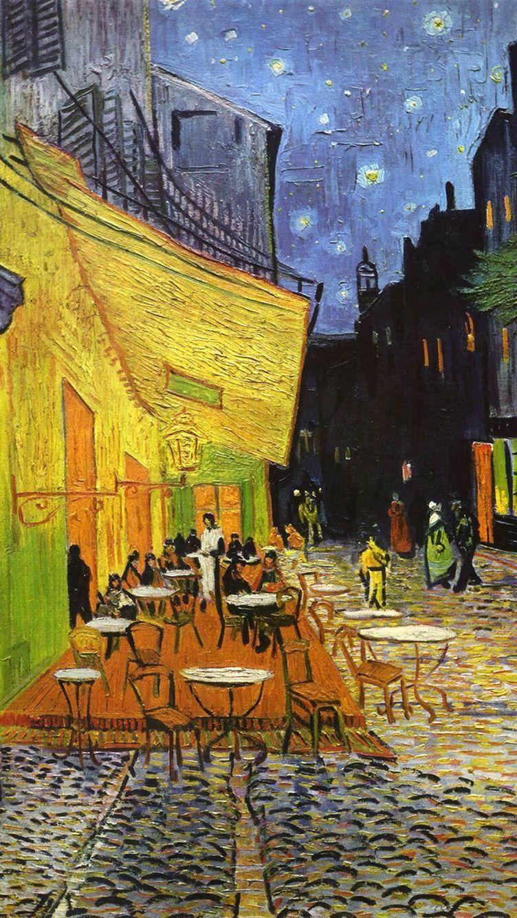 Foto: 'Caféterras in de nacht' Pinterest