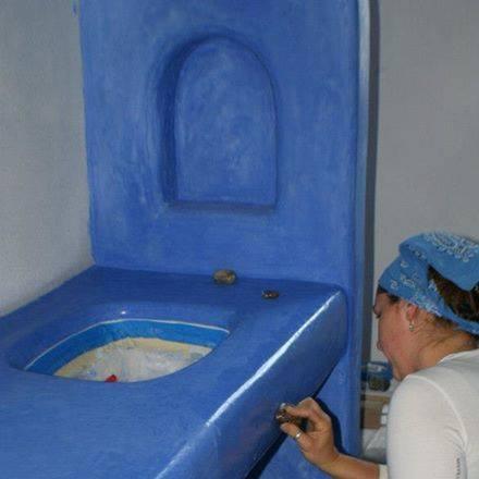 Inspiratie voor lemen badkamer, volgend jaar zomer in Hongarije?