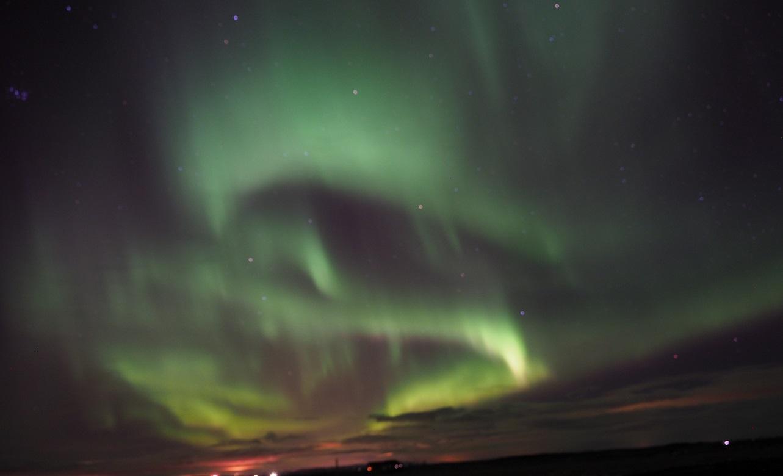 Het Noorderlicht in IJsland, februari 2020 (eigen foto)
