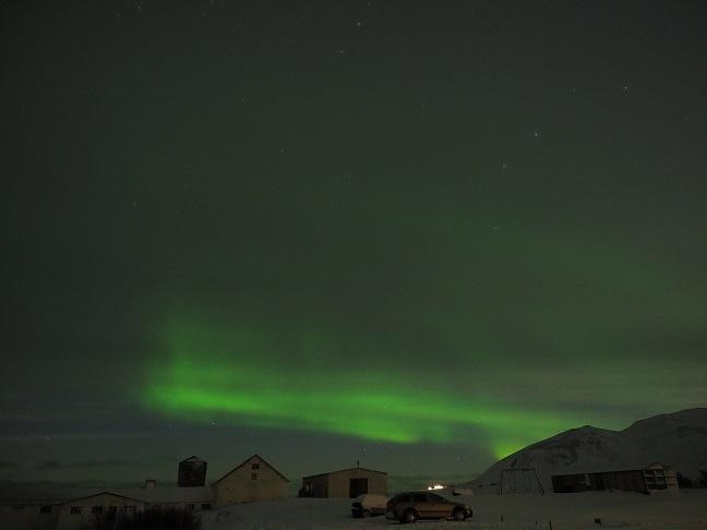 Het Noorderlicht op Snaefellsness, winter 2019 (eigen foto)