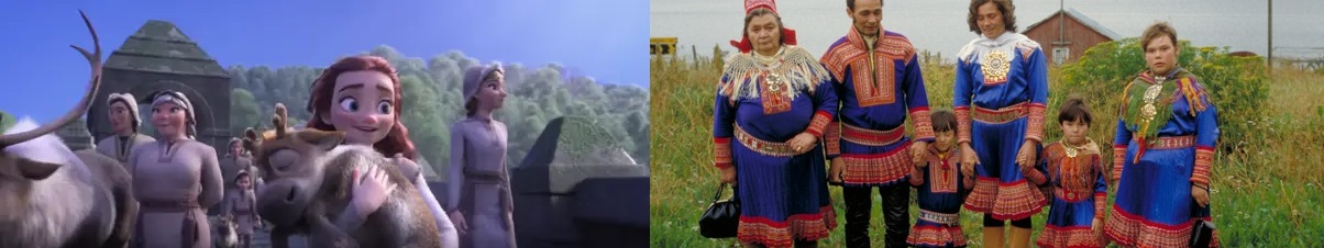 links: northuldra / rechts: sámi