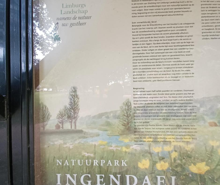 Informatiebord Natuurpark Ingedael Valkenburg en omgeving